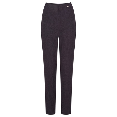 Robell Trousers Marie Jacquard Trouser - Purple