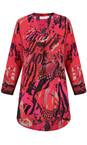 Masai Clothing Pink Org Abstract Print Berta Top