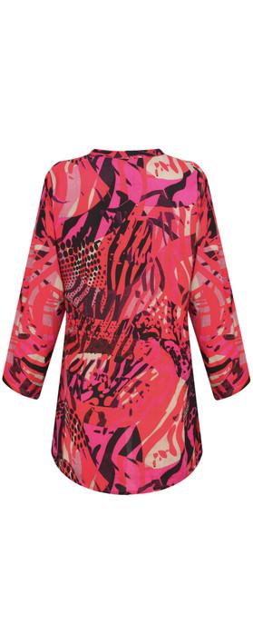 Masai Clothing Abstract Print Berta Top Pink Org