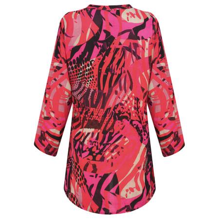 Masai Clothing Abstract Print Berta Top - Pink