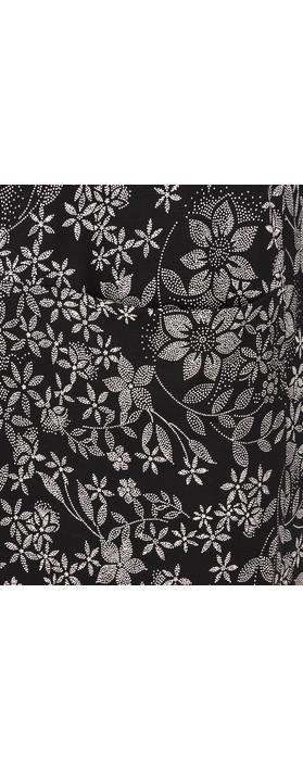 Masai Clothing Gyssia Floral Tunic Black