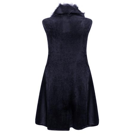Arka Faux Fur Gracie Gilet - Blue