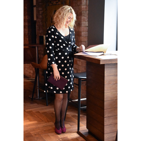 Sandwich Clothing Polka Dot Wrap Dress - Black