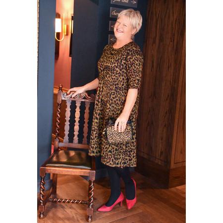 Masai Clothing Leopard Print Nicky Dress - Brown