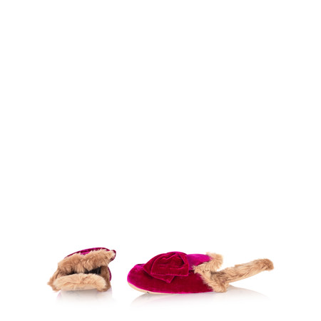 Ruby & Ed Bettina Bow Slip on Loafer Slipper - Pink