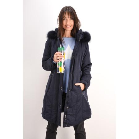 Frandsen Luna Faux Fur Lined Coat - Blue