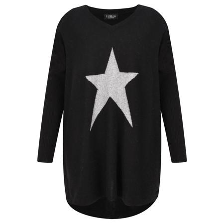 Luella Octavia Star Cashmere Blend Jumper - Black
