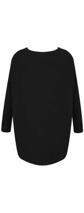 Luella Octavia Star Cashmere Blend Jumper Black / Silver Metallic