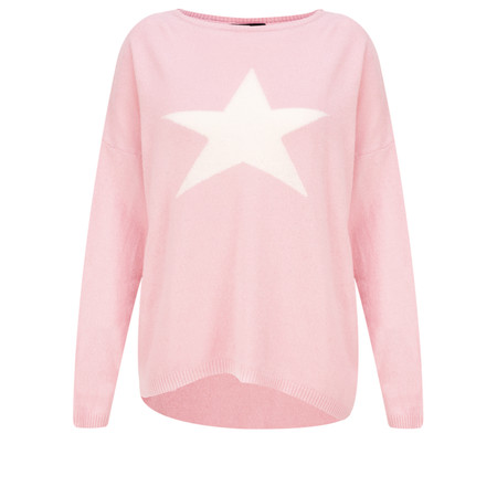 Luella Classic Star Cashmere Blend Jumper - Pink