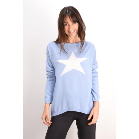 Luella Cashmere Blend Star Jumper - Blue