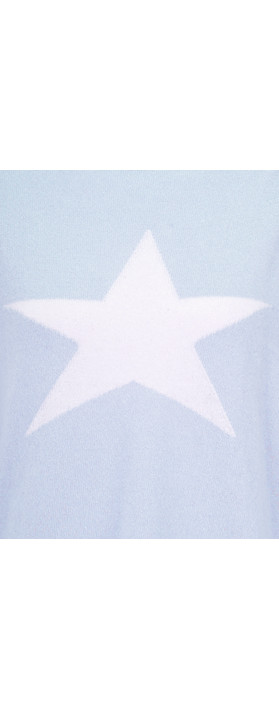 Luella Cashmere Blend Star Jumper Soft Blue / White