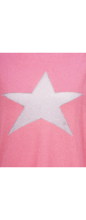 Luella Classic Star Cashmere Blend Jumper Fuchsia / Grey
