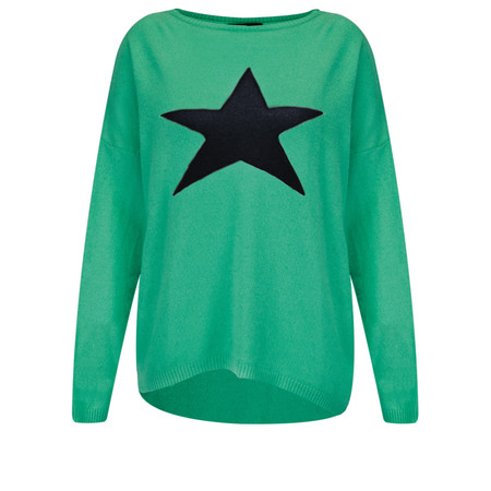 Luella Cashmere Blend Star Jumper - Green