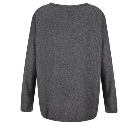 Luella Cashmere Blend Star Jumper - Grey