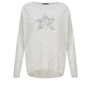 Luella Sequin Star Cashmere Blend Jumper