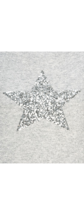 Luella Sequin Star Cashmere Blend Jumper Silver  Grey / Silver