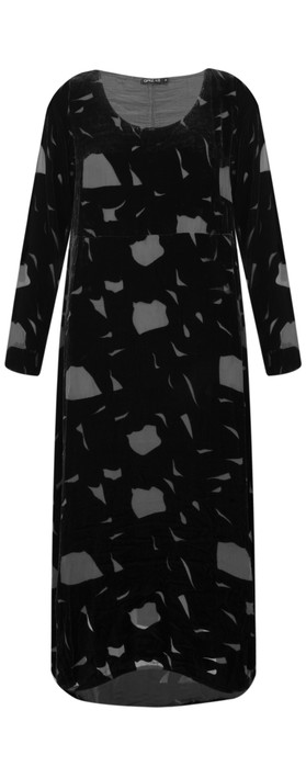 Grizas Isolda Devore Dress Black
