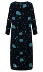 Grizas Dark Cyan Isolda Devore Dress