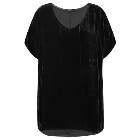 Grizas Caren Drape Velvet Top  - Black