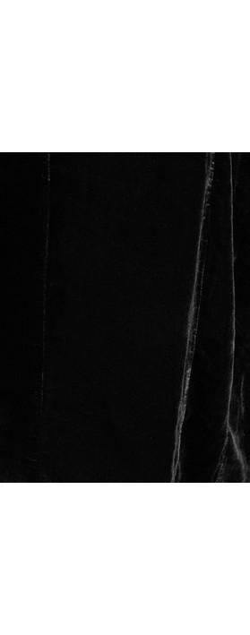 Grizas Caren Drape Velvet Top  Black