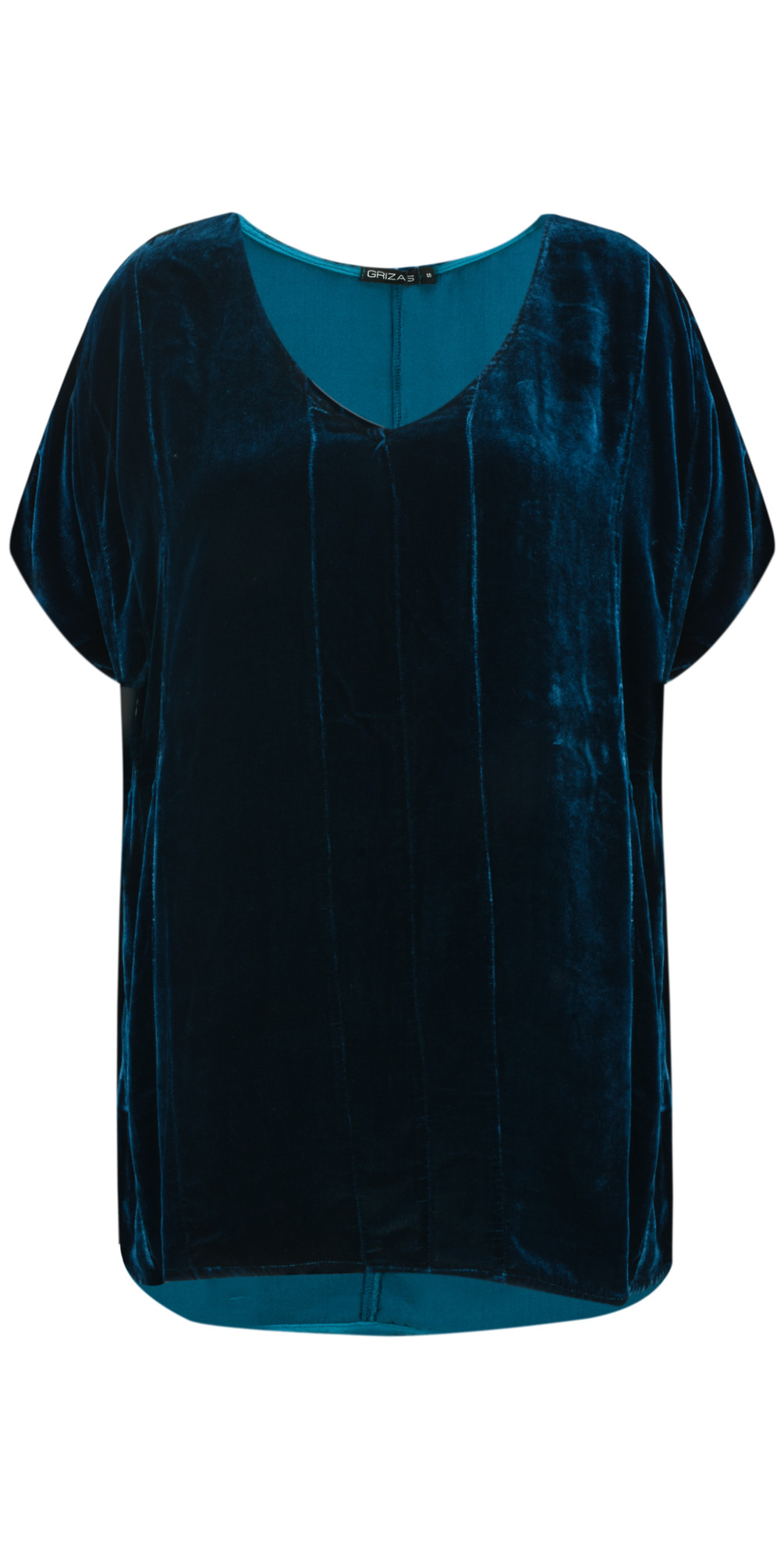 Caren Drape Velvet Top  main image
