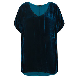 Grizas Caren Drape Velvet Top