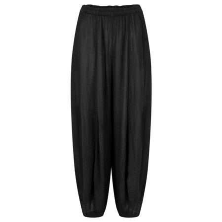 Grizas Vilma Solid Crinkle Trouser - Black