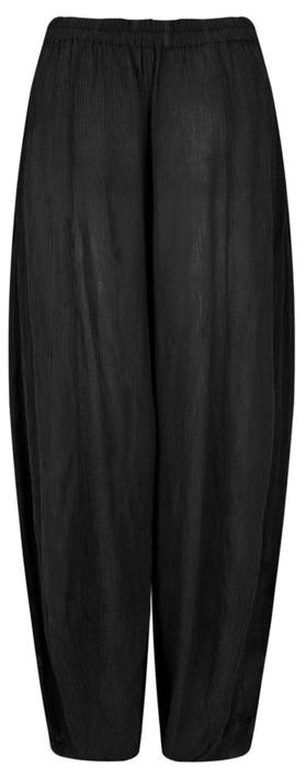 Grizas Vilma Solid Crinkle Trouser Black