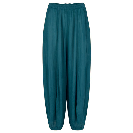 Grizas Vilma Solid Crinkle Trouser - Green