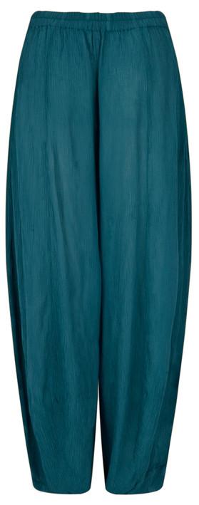 Grizas Vilma Solid Crinkle Trouser Dark Cyan
