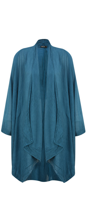 Grizas Rena Silk Crinkle Jacket Dark Cyan