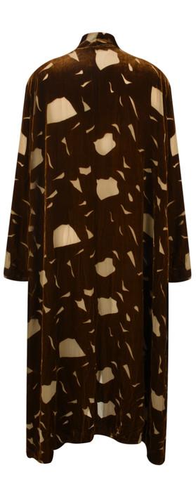Grizas Minty Devore Velvet Drape Jacket Golden Khaki