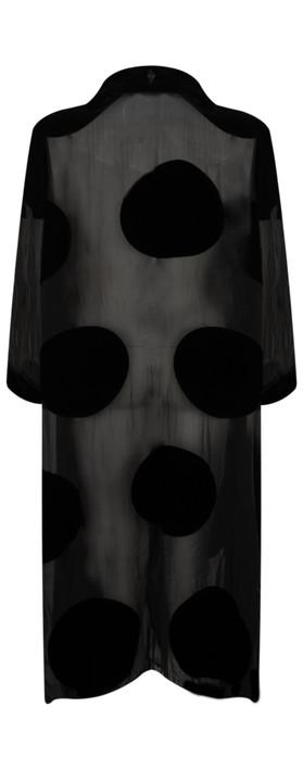 Grizas Minty Big Spot Drape Jacket Black