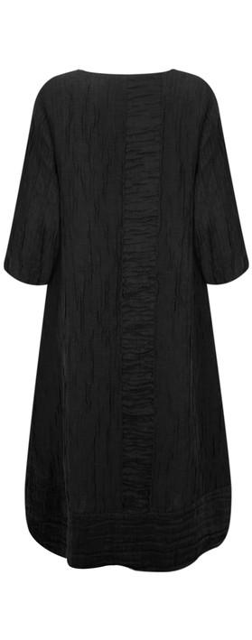 Grizas Vida Silk Linen Panelled Dress Black