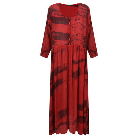 Grizas Paula Silk Mix Tunic  - Red