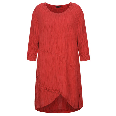 Grizas Petra Silk Crinkle Top - Red