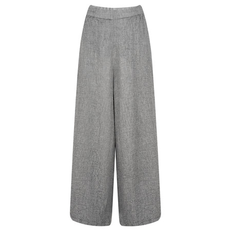 Grizas Niki Wide Leg Wool Trouser  - Blue