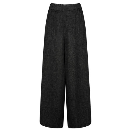 Grizas Niki Wide Leg Wool Trouser  - Black