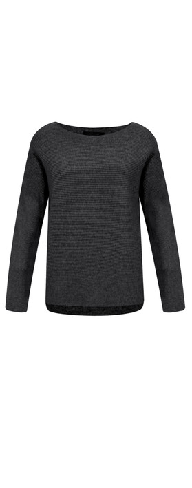 Fenella  Janey Rib Easyfit Jumper Black