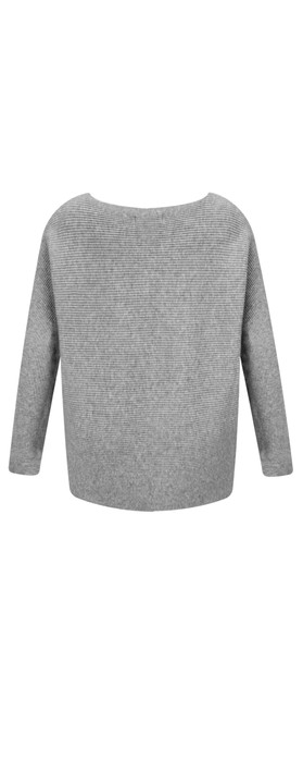 Fenella  Janey Rib Easyfit Jumper Grey