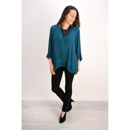 Grizas Layla Silk Top  - Green