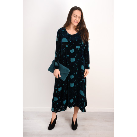 Grizas Isolda Devore Dress - Green
