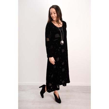 Grizas Isolda Devore Dress - Black
