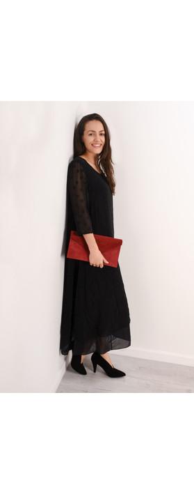 Grizas Ottli Silk Devore Dress  Black