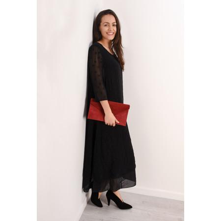 Grizas Ottli Silk Devore Dress  - Black