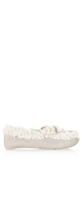 Ruby & Ed Evelyn Sheepy Moccasin Slipper Natural