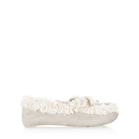 Ruby & Ed Evelyn Sheepy Moccasin Slipper - Beige