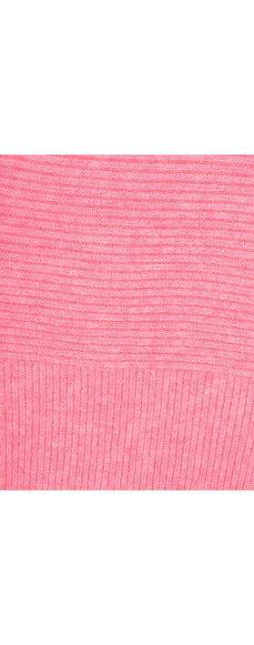 Fenella  Frenchie Easyfit Rib Knit Jumper Fuchsia Rose