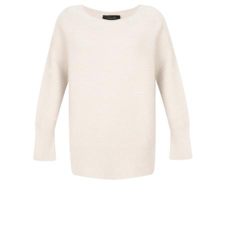 Fenella  Frenchie Easyfit Rib Knit Jumper - Off-White