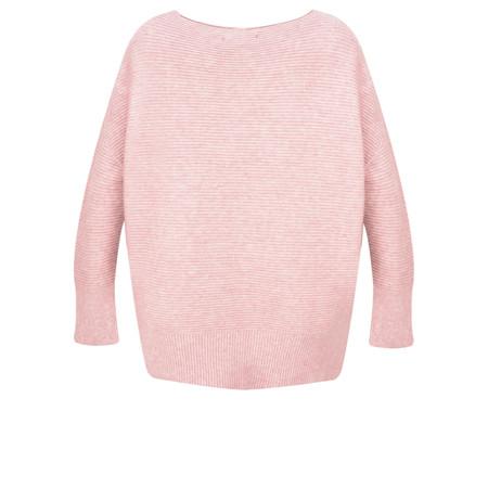 Fenella  Frenchie Easyfit Rib Knit Jumper - Pink